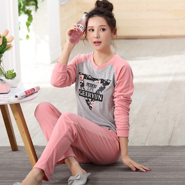 2016 Autumn Striped Pyjamas Cotton Couple Pajamas Set Women Sleepwear  Pajama Sets Pijamas Mujer Lover Pyjamas Homewear Clothing 54ce37a0b