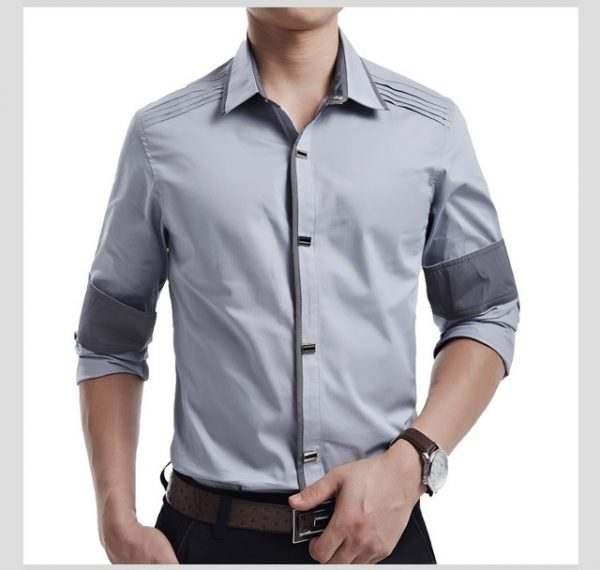 a287b15be46 ... New 2018 Spring Autumn Cotton Dress Shirts High Quality Mens Casual  Shirt