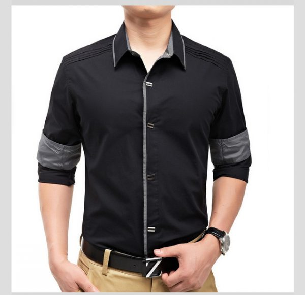 e2f99cea80c New 2018 Spring Autumn Cotton Dress Shirts High Quality Mens Casual Shirt