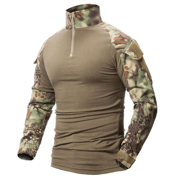 ReFire Gear Camouflage Army T-Shirt Men US RU Soldiers Combat Tactical T  Shirt Military Force Multicam Camo Long Sleeve T Shirts b756b94eae0a