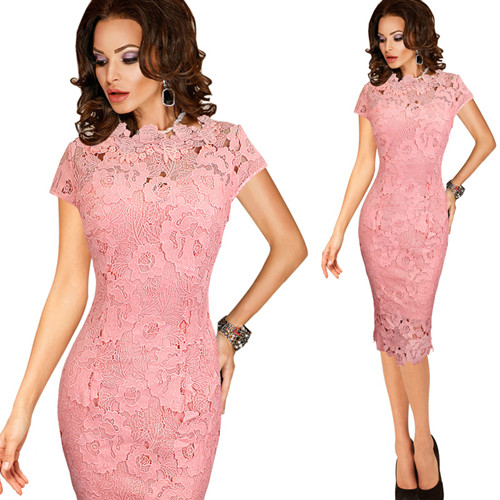 e350d6b248d75 Vfemage Womens Elegant Sexy Crochet Hollow Out Pinup Party Evening Special  Occasion Sheath Fitted Vestidos Dress 4272