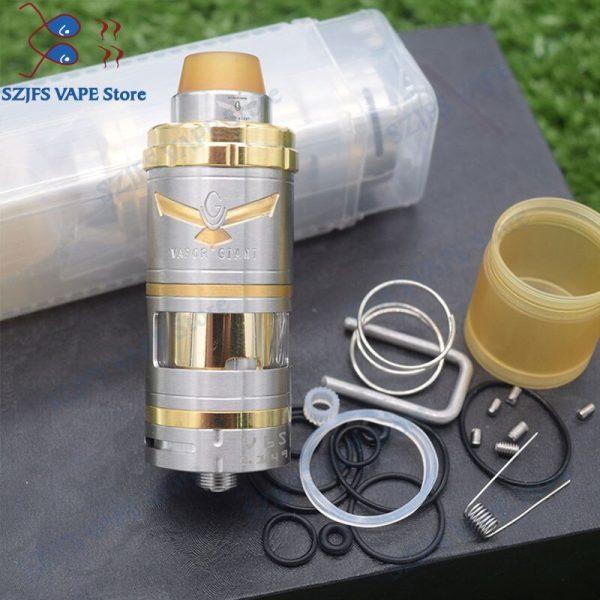 HOT Vapor Giant V6S RTA 6ml/7ml 23/25mm 316ss adjustable Single Coil Top  Filling Bottom Airflow system E-cig Vape Tank Vaporizer