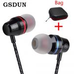 GSDUN Super Bass Earphone Headphones With Mic 3.5mm Sport Gaming Headset for Phones Xiaomi Samsung iPhone fone de ouvido MP3