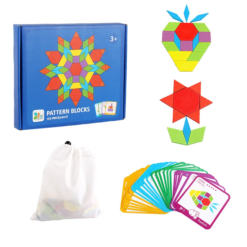 Jigsaw Puzzle For Children Kids Tangram Wooden Jigsaw