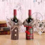 Santa Claus Wine Bottle Cover Christmas Decorations for Home New Year Xmas Decor Red Wine Bottle Covers New Year Christmas Decor