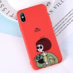 Lovebay Phone Case For iPhone 11 6 6s 7 8 Plus X XR XS 11Pro Max Cute Cartoon Letter Deer Smiley Face Soft TPU For iPhone Cover