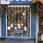 QIFU Christmas Decorations Window Sticker Christmas Decoration For Home Xmas Decor Merry Christmas 2019 Happy New Year 2020