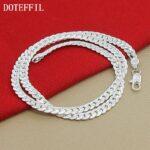 2-Piece-925-Silver-Color-Necklace-Bracelet-Jewelry-Set-Cheap-Bridal-Party-Sets-Mens-6M-Whole-Sideway-Fashion-Silver-Necklace