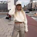 Hugcitar-long-sleeve-zipper-high-neck-Faux-lambswool-crop-tops-2018-autumn-winter-women-fashion-solid-coat-jacket