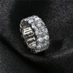 2-Row-CZ-Solitaire-Ring-For-Men/Women-Gold/Silver-Color-Iced-Out-Charm-Round-Ring-Band-Classic-Hip-Hop-Jewelry-For-Gifts